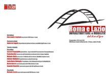 Locandina del convegno su infrastrutture e mobilità organizzato dalla Cgil di Roma e del Lazio