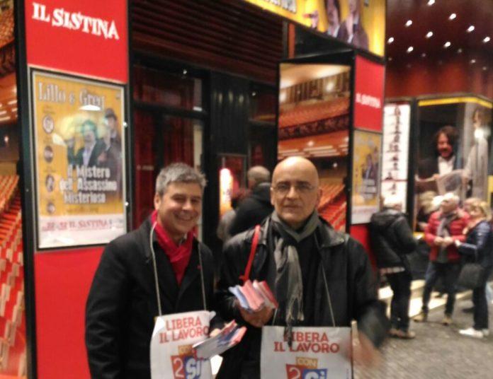 Volantinaggio - Teatro Sistina